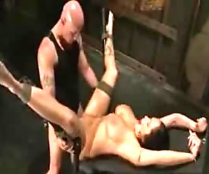 BDSM Hot Girl With Big Tits Tied Up And Bondage Fucked On Cam!