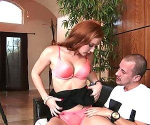 Sweet nympho Jessy Jones sucks Alex Tanner's cock like a pro