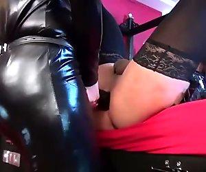 Lady KacyKisha - Big Strapon for the TV-Slut