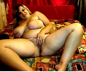 Hot Fat Chubby Teen masturbating and spreading her wet pussy